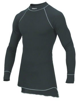 Craft Craft Active Long Sleeve Crew Base Layer Top: Black LG