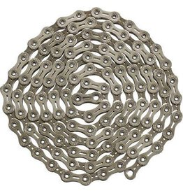 YBN YBN Nickel Plated Silver 11-speed Chain, 116 Links, 5.5mm Wide with One Reusable QRS Master Link