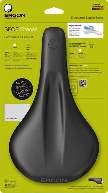 Ergon Ergon SFC3-S Fitness Saddle: Small, Black