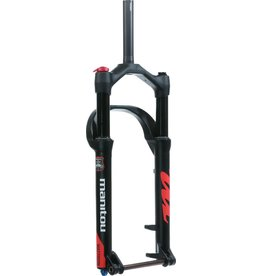 """Manitou Manitou Mastodon Comp Fat Bike Fork, 100mm Travel, 15 x 150 mm Axle, Tapered, Matte Black, Extended version-fits up to a 5.15"""" Tire"""