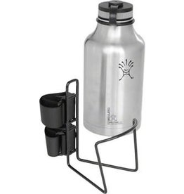 """TwoFish TwoFish Growler QuickCage 64oz Water Bottle Cage: 5.0"""" outer diameter Bottles (No Bottle included) Vinyl Coated Black"""