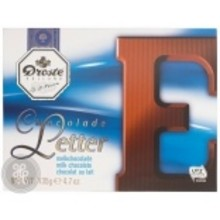 Droste Large E Milk Chocolate Letter - 4.7 OZ