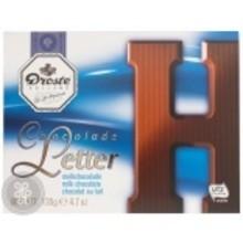 Droste Large H Milk Chocolate Letter - 4.7 OZ