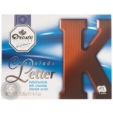 Droste Large K Milk Chocolate Letter - 4.7 OZ
