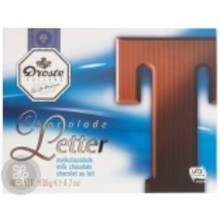 Droste Large T Milk Chocolate Letter - 4.7 OZ