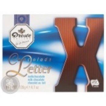 Droste Large X Milk Chocolate Letter - 4.7 OZ