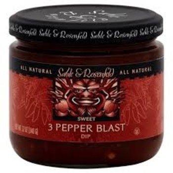 Sable & Rosenfeld 3 Pepper Blast Appetizer - 12 OZ Jar