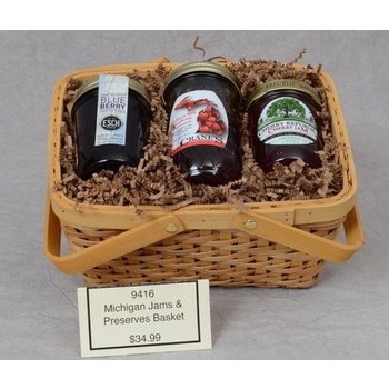 Gift Basket Michigan Jam & Preserves Gift Basket (some items my be different than pictured)