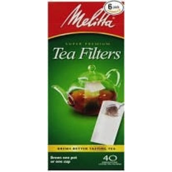 Melitta Loose Tea Filters - 40 Unbleached tea filters