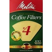 Melitta #4 Coffee Filters - 100  Natutal Brown Filters