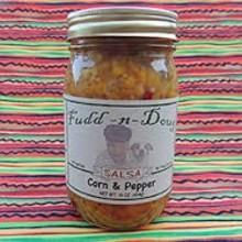 Fudd-n-Doug Corn & Pepper Salsa- 17 oz Glass Jar