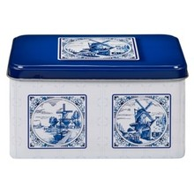 De Ruiter Blue Delft design Cookie Tin - 1 each