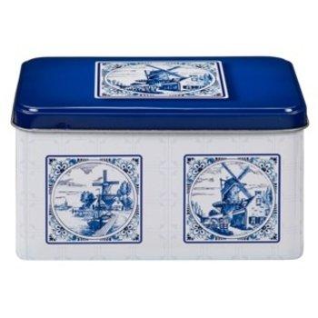 De Ruiter Blue Delft design Cookie Tin - 1 each