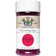 India Tree Raspberry Red Decorating Sugar 3.3 Oz