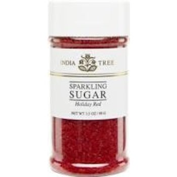 India Tree Red Sparkling Sugar - 3.5 OZ