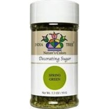 India Tree Spring Green Decorating Sugar 3.3 Oz