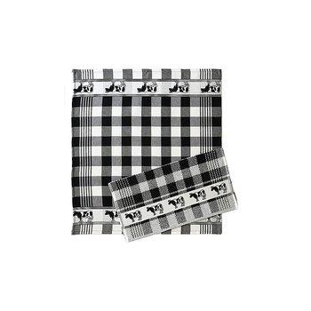 Twenstse Black Cow Tea Towel 25x23