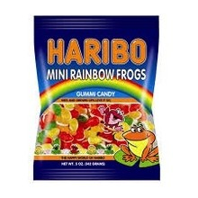 Haribo Mini Rainbow Frogs Bags - 5 Oz bag