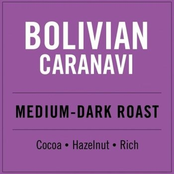 Higher Grounds HG Bolivian Medium darkroast 12 oz Whole Beans
