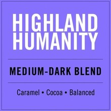 Higher Grounds HG Highland Humanity Medium dark roast 12 oz beans