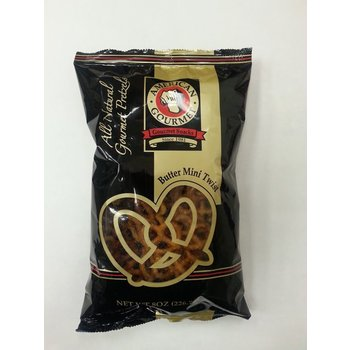 American Gourmet Butter Mini Twist Pretzel 8 oz Pillow bag