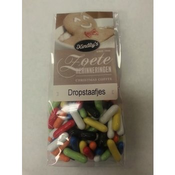 Kindlys Licorice sticks candy shell - 7 OZ Dropstaafjes