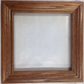 Oak 6x6 inch wood tile frame - EACH