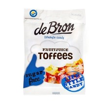 De Bron Sugar Free Fruit Toffees3 .17 oz Bag