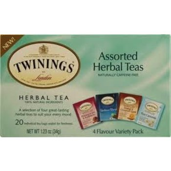 Twinings Assortment Herbal Tea - 20 Individual tea bags