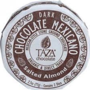 Taza Chocolate Salted Almond Chocolate Disc - 2.7 Oz disc