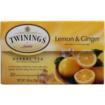 Twinings Lemon & Ginger Tea - 20 Individual tea bags