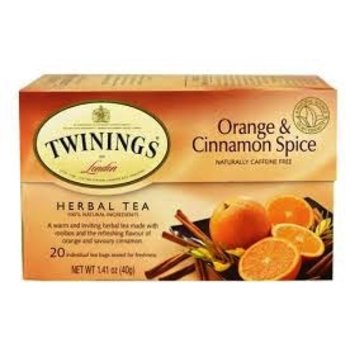 Twinings Orange Cinnamon Spice Tea - 20 Individual tea bags