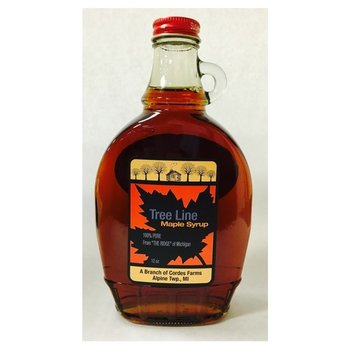 Tree Line Pure Maple Syrup 12 oz bottle - Made In Michigan