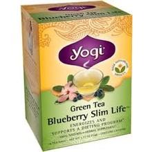 Yogi Organic Green Tea Blueberry Slim Life - 16 CT bags