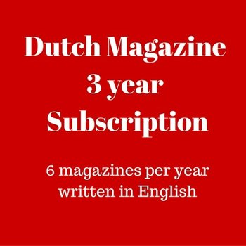 Mokman sDutch Magazine 3 year subscription - 3 years