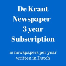Mokman De Krant Dutch language newspaper 2 year subscription