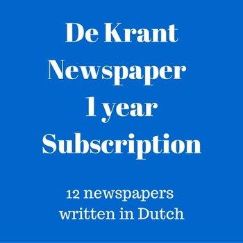 Mokman De Krant Dutch language newspaper 1 year subscription.