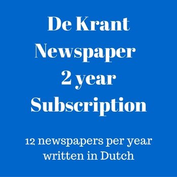 Mokman De Krant Dutch language newspaper 3 year subscription