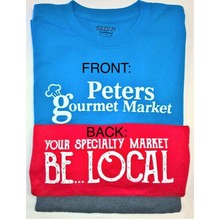 Peters Gourmet Market  Light BLUE T-Shirts XL