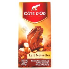 Cote D Or Milk chocolate & whole hazelnuts 6.3 oz bar