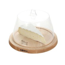 Boska Beech cheese board with plastic dome 9.8 inches