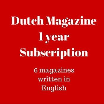 Mokman Dutch Magazine 1 yr subscription - 1 year