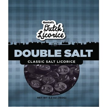 Gustafs Double Salt Licorice Bag - 5.2 OZ