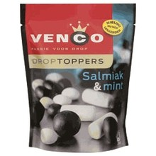 Venco Licorice Salmiak & Mint Topper - 9 OZ bag