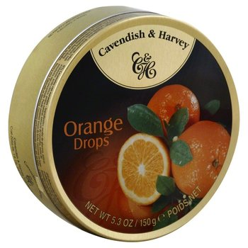 Cavendish & Harvey Orange Candy Tin - 5.3 OZ Orange Tin