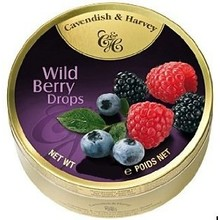 Cavendish & Harvey Wildberry Candy Tin - 5.3OZ Wildberry Tin