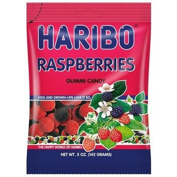 Haribo Raspberries Bag - 5.2 OZ