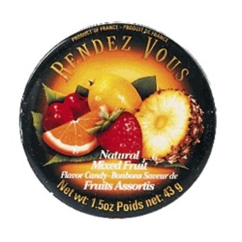 Rendez Vous Mixed Fruit Candy Tin - 1.5 OZ tin
