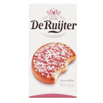 De Ruijter Pink and White Sugared Aniseed - 9.8 OZ