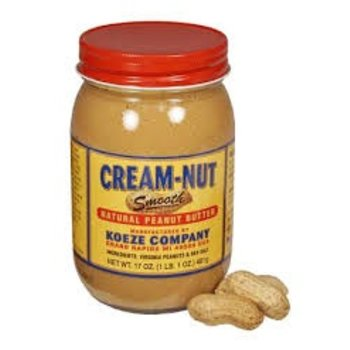 Koeze Natural Cream-Nut Peanut Butter Jar - 17 OZ